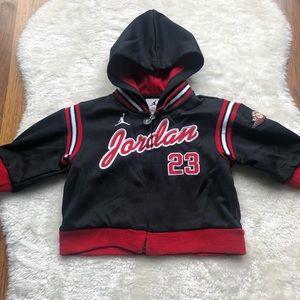 Jordan Infant boys zip up jacket w/hood size 3/6 M